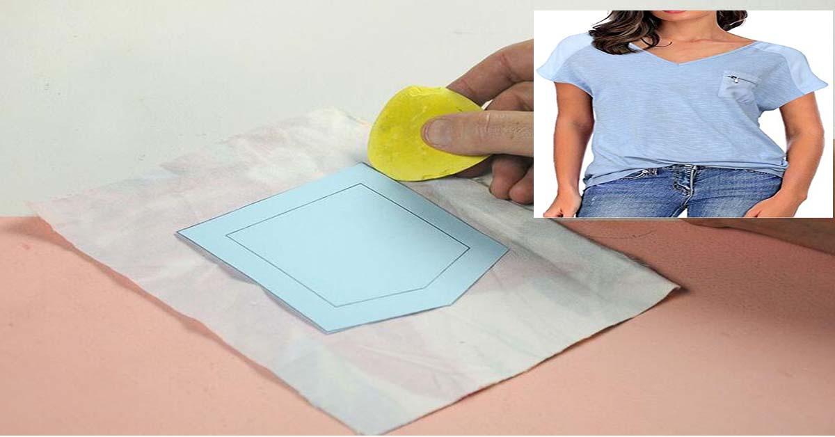 coser un bolsillo delantero a una blusa